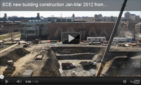 ECE new building construction from Beckman